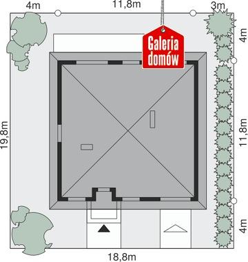 Dom przy Niezapominajek 4 - wymiary na działce