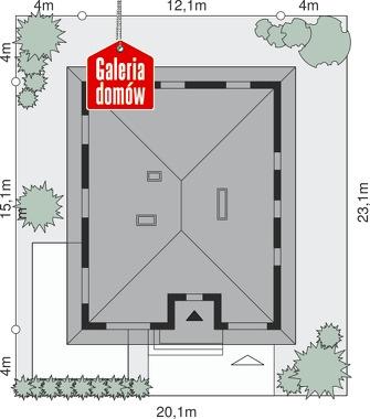 Dom przy Słonecznej 11 - wymiary na działce