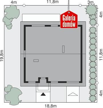 Dom przy Niezapominajek 5 - wymiary na działce
