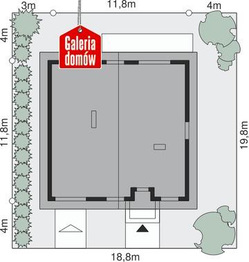 Dom przy Niezapominajek 6 - wymiary na działce