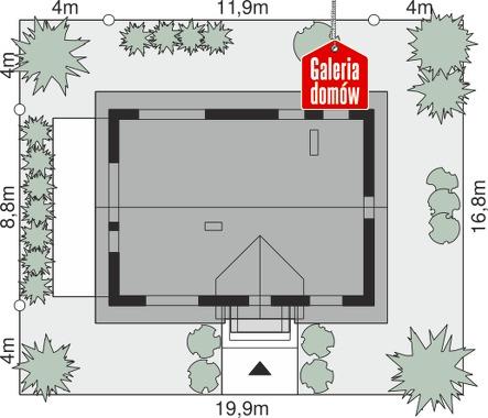 Dom przy Alabastrowej 58 - wymiary na działce