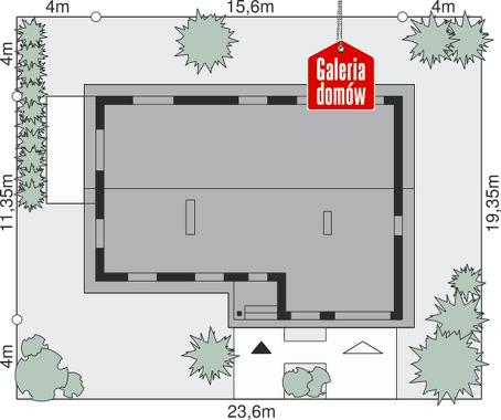 Dom przy Przyjemnej 31 bis - wymiary na działce