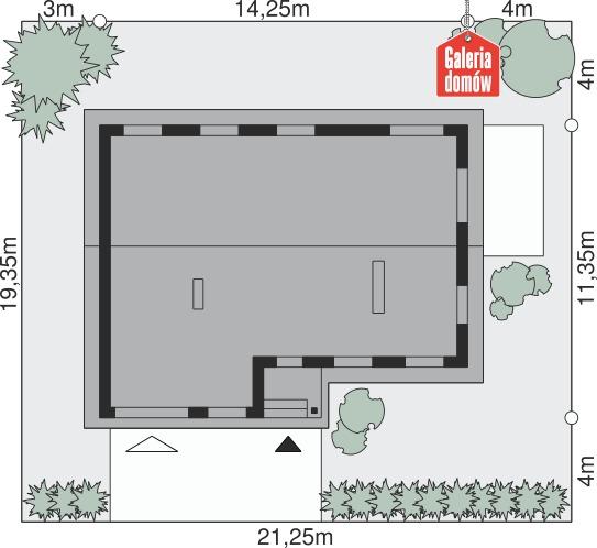 Dom przy Przyjemnej 32 - wymiary na działce