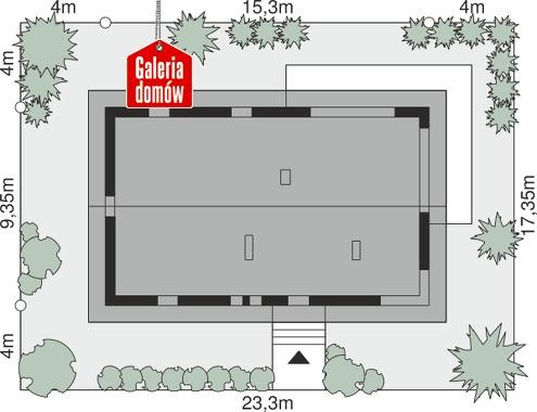 Dom przy Bukowej 40 - wymiary na działce