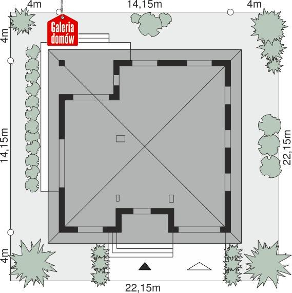 Dom przy Rubinowej 7 - wymiary na działce