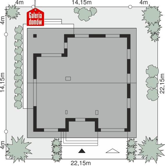Dom przy Rubinowej 8 - wymiary na działce