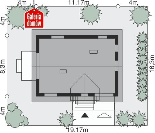 Dom przy Alabastrowej 59 - wymiary na działce