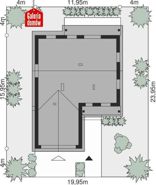 Dom przy Bukowej 42 - wymiary na działce
