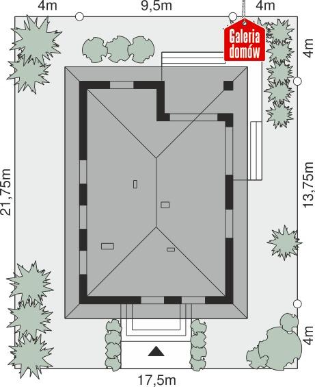 Dom przy Pastelowej 27 - wymiary na działce