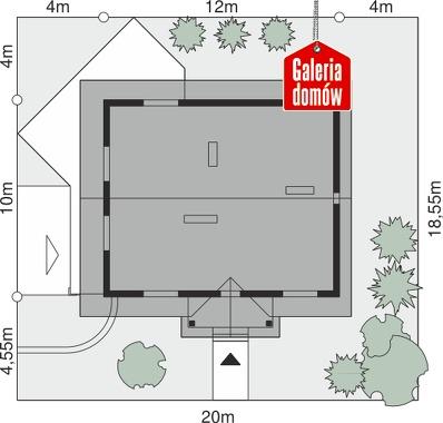 Dom przy Szkarłatnej - wymiary na działce
