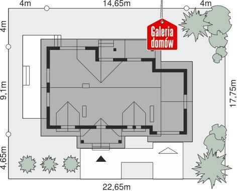 Dom przy Modrzewiowej - wymiary na działce