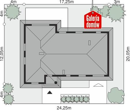 Dom przy Lazurowej - wymiary na działce