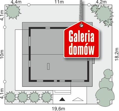 Dom przy Malinowej - wymiary na działce