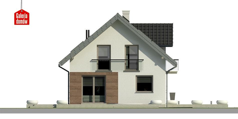 Dom przy Alabastrowej 10 - elewacja frontowa