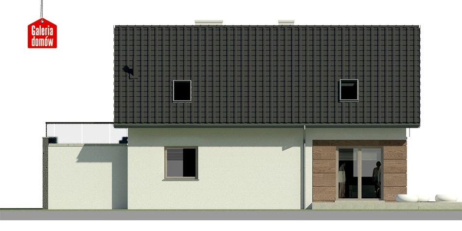 Dom przy Alabastrowej 10 - elewacja lewa