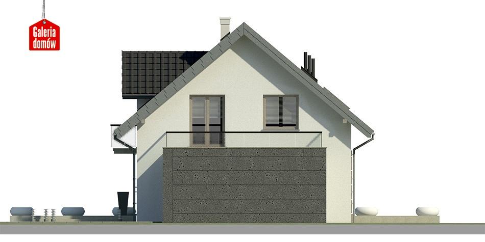 Dom przy Alabastrowej 11 - elewacja tylna
