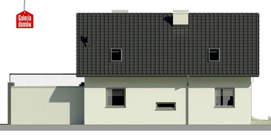 Dom przy Alabastrowej 12 - elewacja lewa