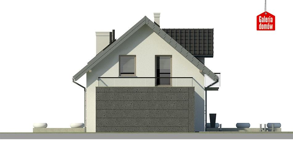 Dom przy Alabastrowej 14 - elewacja tylna