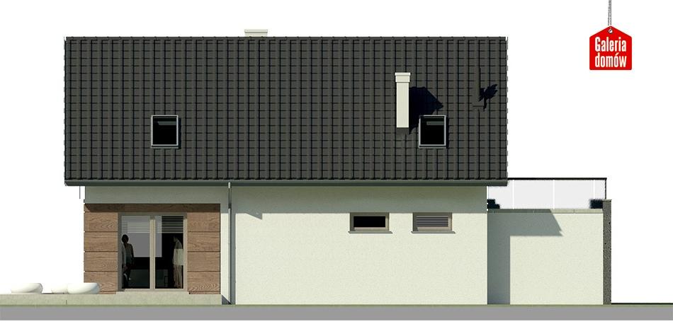 Dom przy Alabastrowej 14 - elewacja lewa