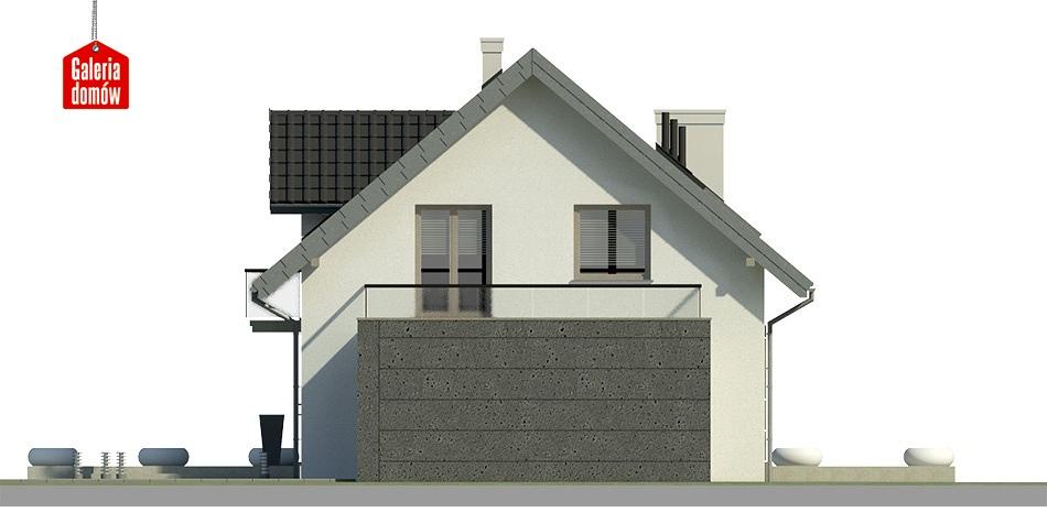 Dom przy Alabastrowej 15 - elewacja tylna