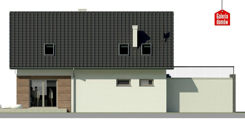 Dom przy Alabastrowej 15 - elewacja lewa