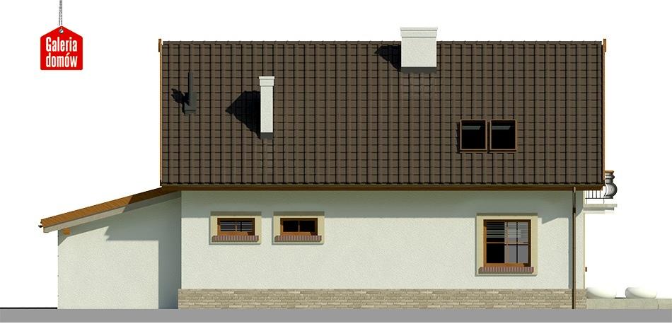 Dom przy Alabastrowej 17 - elewacja lewa