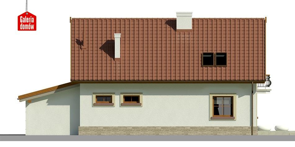 Dom przy Alabastrowej 18 - elewacja lewa