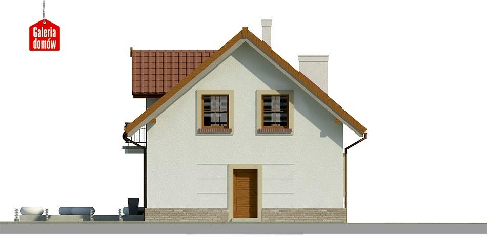 Dom przy Alabastrowej 19 - elewacja tylna