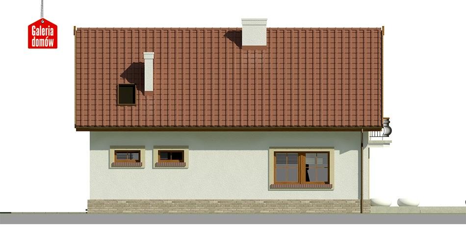 Dom przy Alabastrowej 19 - elewacja lewa