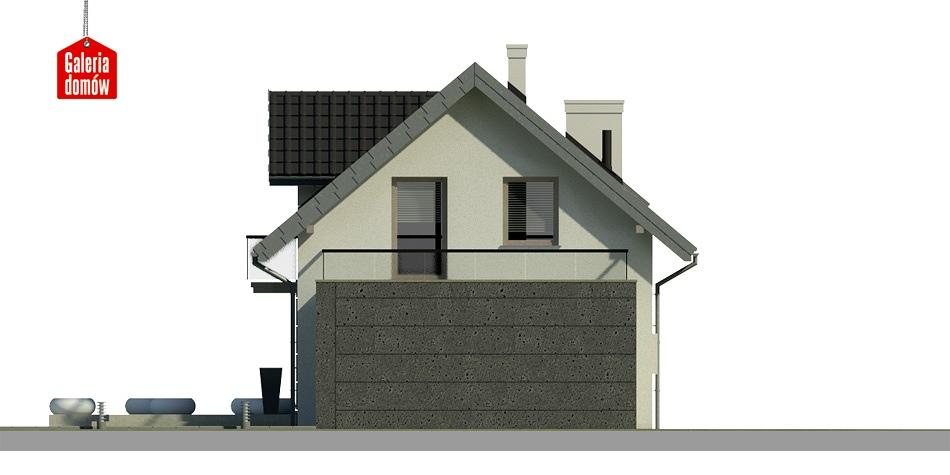 Dom przy Alabastrowej 2 - elewacja tylna