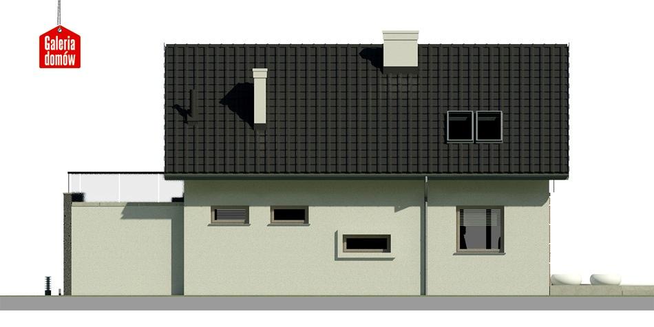 Dom przy Alabastrowej 2 - elewacja lewa