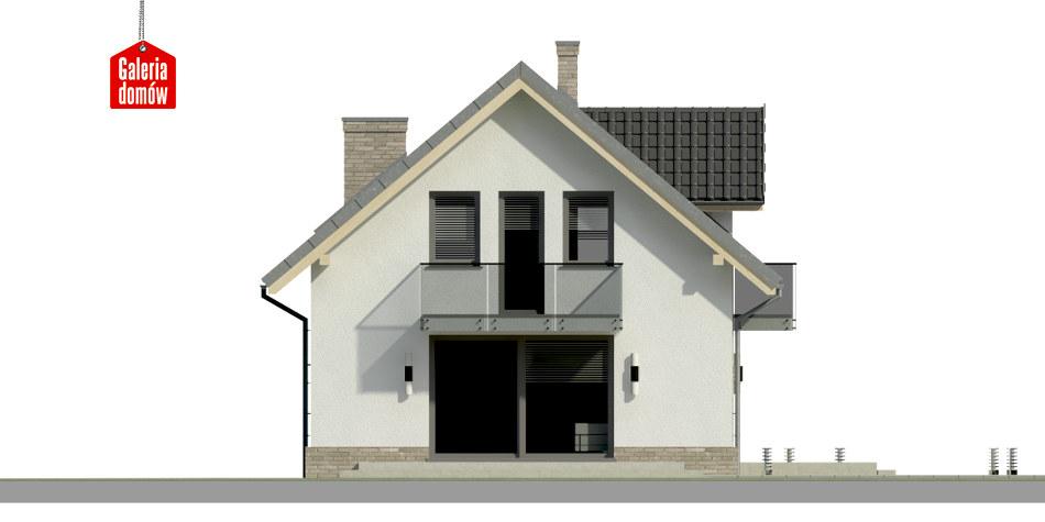 Dom przy Alabastrowej 20 N - elewacja frontowa