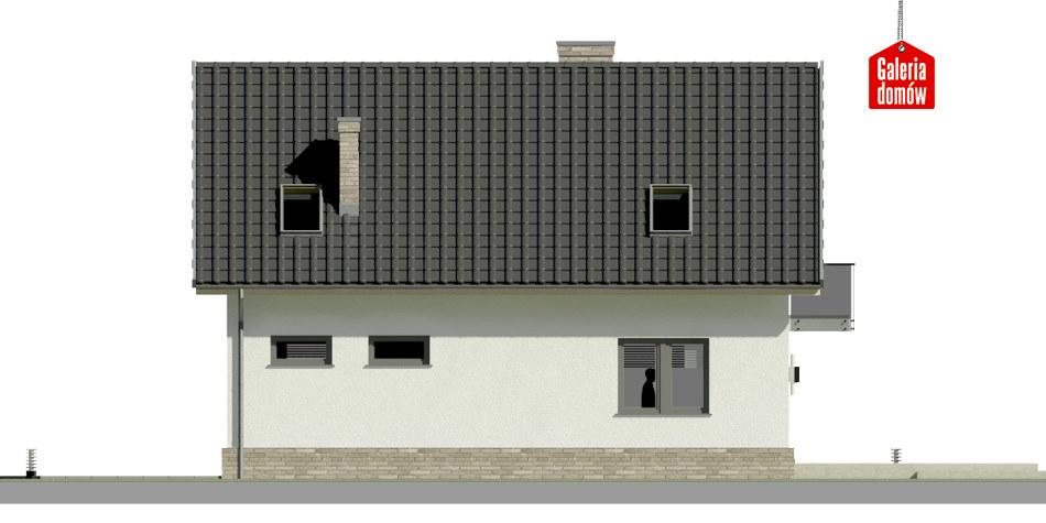 Dom przy Alabastrowej 20 N - elewacja lewa