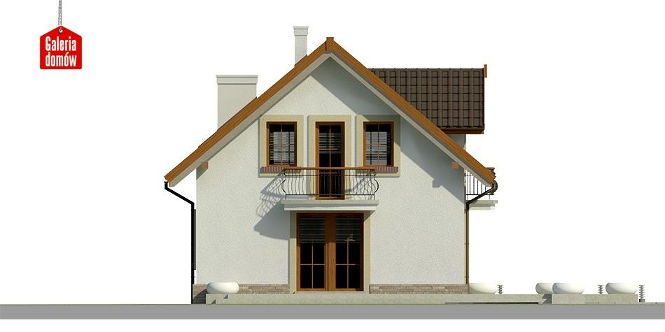 Dom przy Alabastrowej 20 - elewacja frontowa