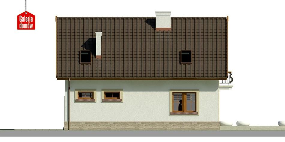 Dom przy Alabastrowej 20 - elewacja lewa
