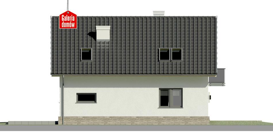 Dom przy Alabastrowej 21 N - elewacja lewa