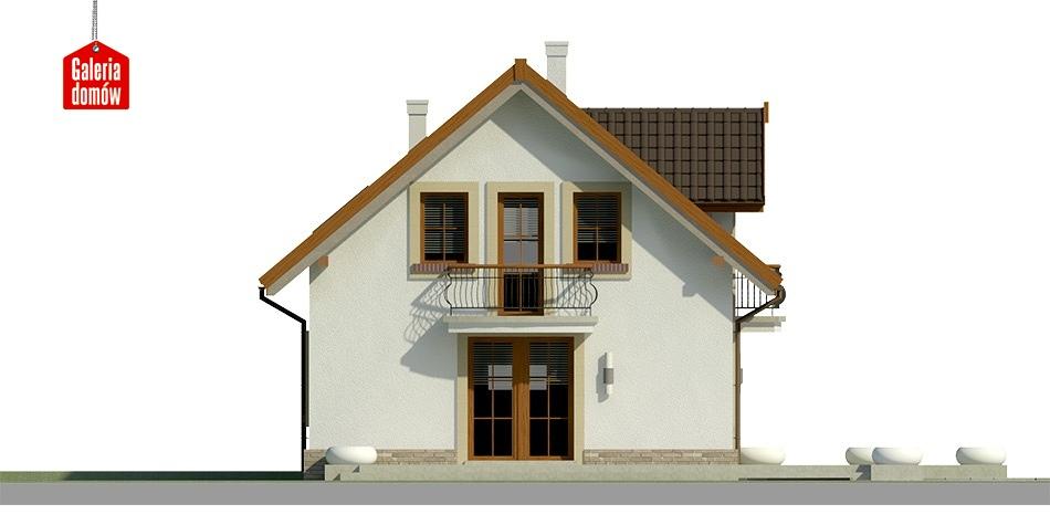 Dom przy Alabastrowej 21 - elewacja frontowa