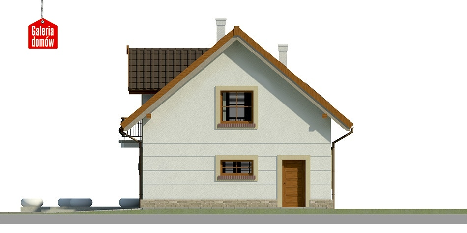 Dom przy Alabastrowej 21 - elewacja tylna