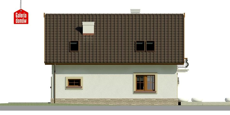Dom przy Alabastrowej 21 - elewacja lewa
