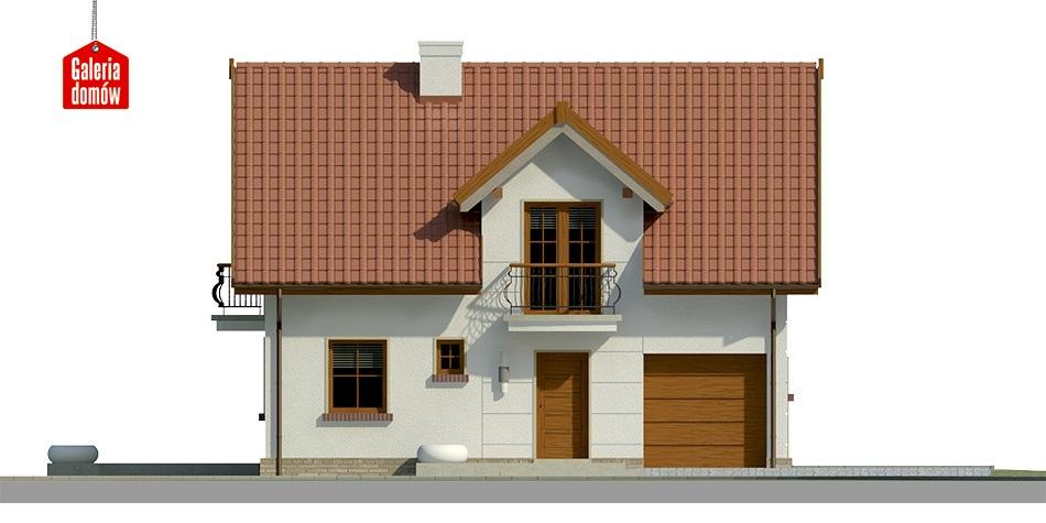 Dom przy Alabastrowej 22 - elewacja prawa