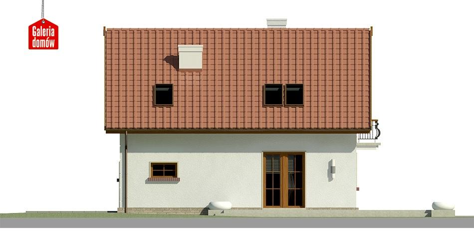 Dom przy Alabastrowej 22 - elewacja lewa