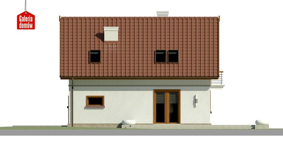 Dom przy Alabastrowej 23 - elewacja lewa