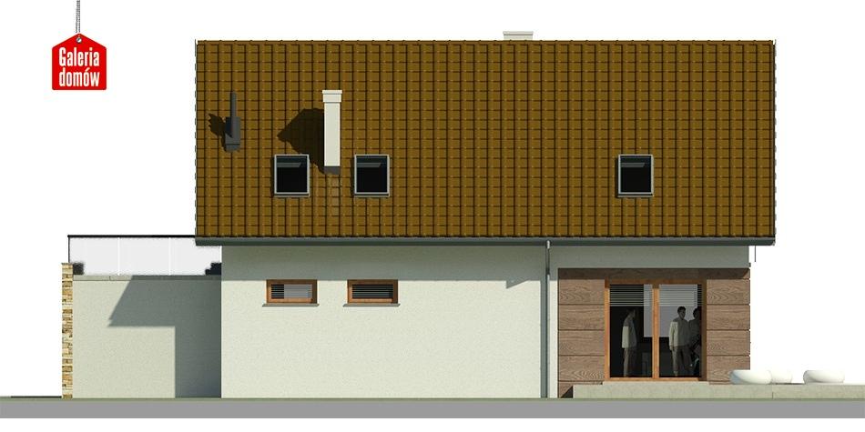Dom przy Alabastrowej 24 - elewacja lewa