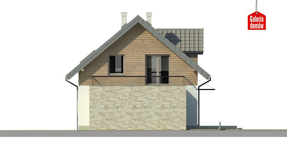 Dom przy Alabastrowej 25 - elewacja tylna