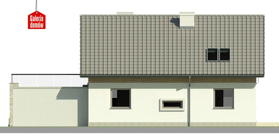 Dom przy Alabastrowej 25 - elewacja lewa