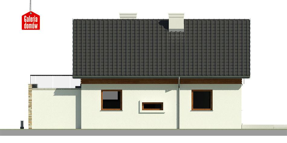 Dom przy Alabastrowej 27 - elewacja tylna