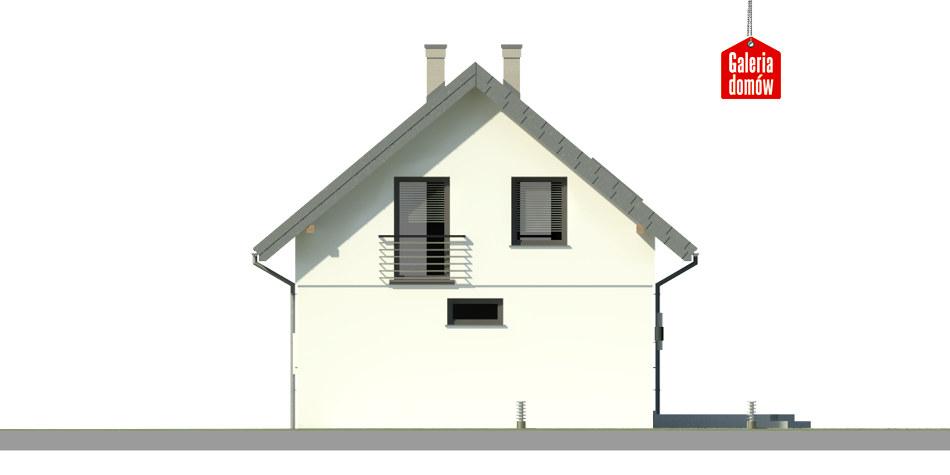 Dom przy Alabastrowej 28 - elewacja tylna