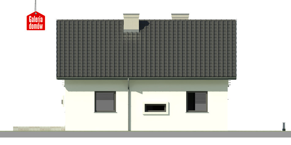 Dom przy Alabastrowej 28 - elewacja lewa