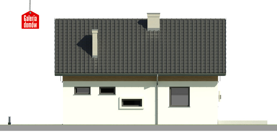 Dom przy Alabastrowej 29 - elewacja lewa