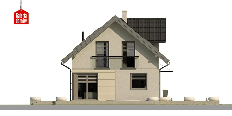 Dom przy Alabastrowej 3 - elewacja frontowa